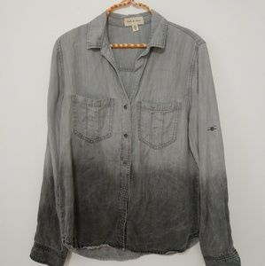 3/$15 CLOTH AND STONE Black Button down size M